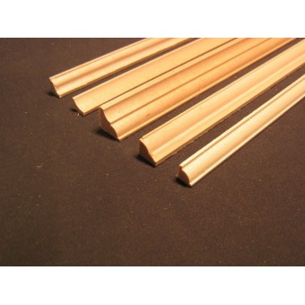Crown Molding 2 dollhouse miniature basswood trim 6pc 1/12 scale cornice MW12022