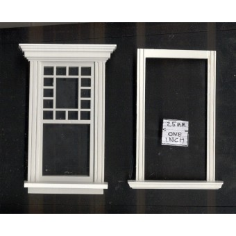 Window by Bespaq 704WOD Craftsman style -  wooden dollhouse miniature 1:12 scale