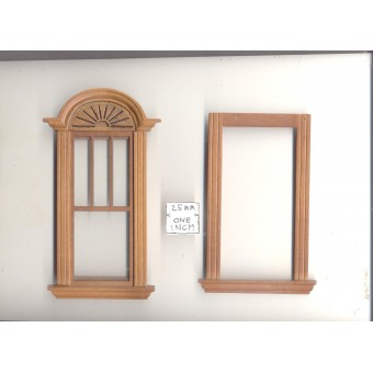 Window by Bespaq 702WND Craftsman style -  wooden dollhouse miniature 1:12 scale