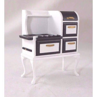 1920s Stove - Gas 1/12 scale wooden  dollhouse miniature  D6269