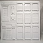 "Georgian Architectural Details 1/24 Half G scale molded styrene  PRE1244 15""x15"""