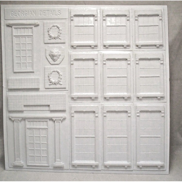 "Colonial Architectural Details 1//24 Half G scale molded styrene  PRE1242 15/""x15/"""