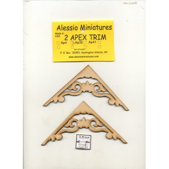 Apex Trim - AP35 wooden dollhouse miniature 1:12 scale USA made 2pcs