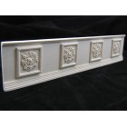Wainscot Panel  dollhouse wall cast miniature UMWC3 1pc 1/12 scale plaster resin