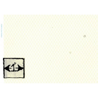 Brodnax Prints - Damask Cream HFL132  wallpaper Half 1/24 Scale 1pc dollhouse.