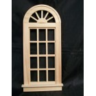 Window - Playscale Palladian   miniature dollhouse 95014 1/8 scale  wooden