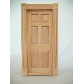 Block & Trim Interior Door wooden Dollhouse miniature  #6025  1/12 scale