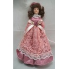 "Porcelain 6"" Doll - Victorian Mother Woman G7653 - 1/12 scale bendable miniature"