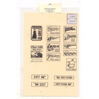 Groceries / Store Signs -  MUL2083 - 1/12 Scale dollhouse miniature -