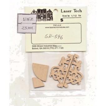 Corner Shelf Kit  LT596 wood dollhouse miniature  1/12 scale