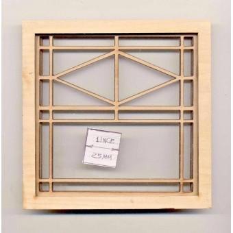 Window - Prairie Double  - 2191 dollhouse miniature 1:12 scale USA made
