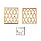 Victorian / Tudor Window Mullions  LT5002 fit #5002  1/12 scale dollhouse 2pcs