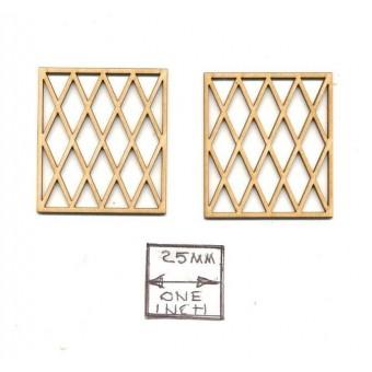 Victorian / Tudor Window Mullions  LT5002 fit #5002  1/12 scale dollhouse 2pcs