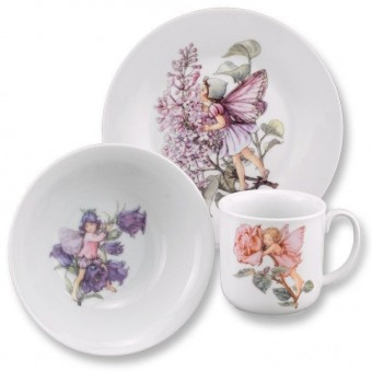 Flower Fairies Tea Cup Plate & Bowl Set for Children Reutter Porcelain 75.516/1