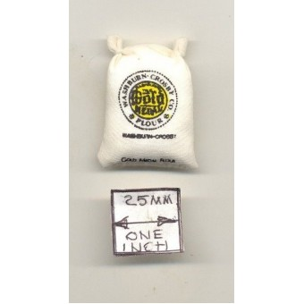 Sack of Flour - Gold Medal - dollhouse Classics Miniatures IM65099  1/12 scale