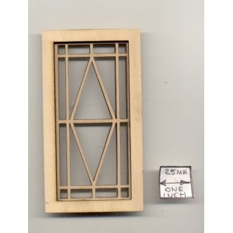 Window - Diamond Prairie Style  - 2183 wooden dollhouse miniature 1:12 scale USA