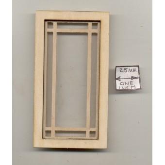 Window - Diamond Prairie Style  - 2180 wooden dollhouse miniature 1:12 scale USA