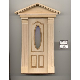 Door - Federal Style w/ Oval  - 2313FD wooden dollhouse miniature 1:12 scale USA