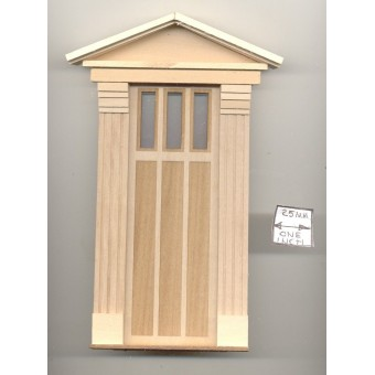 Door - Federal Style   - 2300FD wooden dollhouse miniature 1:12 scale USA