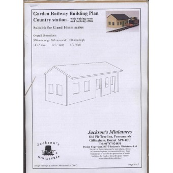 Country Train Station Plan Pack  - G (1/24) Scale Garden railroad  building W03