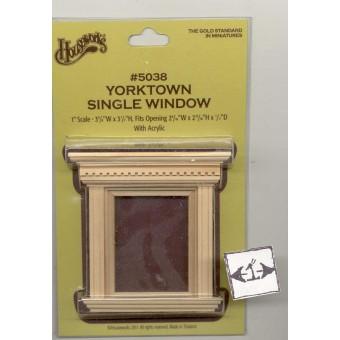 Window  - Yorktown Single - dollhouse miniature 1:12 scale  5038 1pc wooden