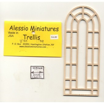 Garden Trellis - TR1 wooden dollhouse miniature 1:12 scale USA made