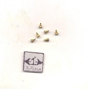 Door Knobs brass finish dollhouse miniature hardware CLA05688 6/pk 1/12 scale
