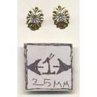 Crystal Medallion Knob 1/12 scale dollhouse miniature hardware CLA05685 1pr