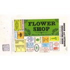 Flower Shop / Store Signs -  S104 - 1/12 Scale dollhouse miniature -