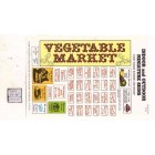 Vegetable Market / Store Signs -  S105 - 1/12 Scale dollhouse miniature -