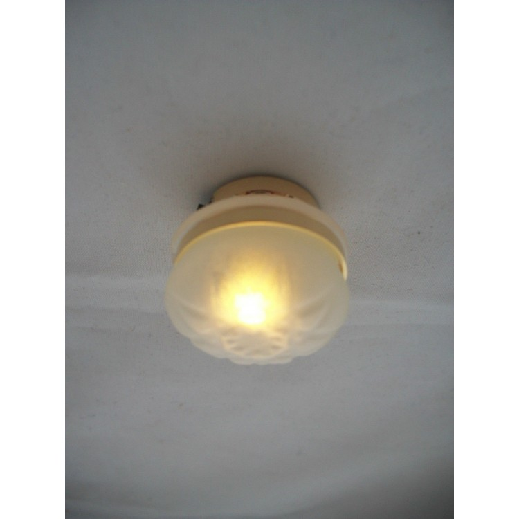 LED Frosted Ceiling Lamp 2338 Replaceable Battery