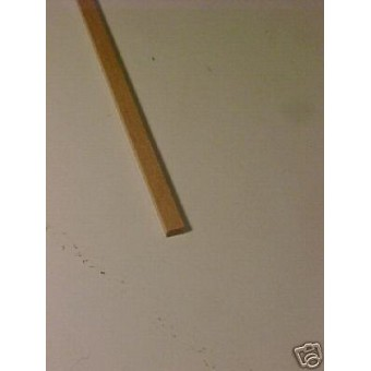 "1/4 x 1/2 x 23"" Model Lumber strip basswood craft 3pcs"