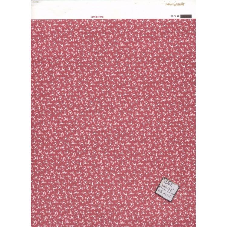 Baby Breath Red 81A23 miniature dollhouse wallpaper 1pc 1//12 scale MiniGraphics