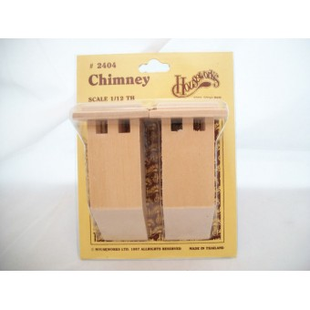 "Chimney #4 miniature dollhouse wooden 1"" scale #2404 2p"