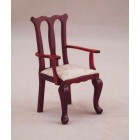 Arm Chair dollhouse miniature wood furniture T3050 1/12 scale mahogany finish