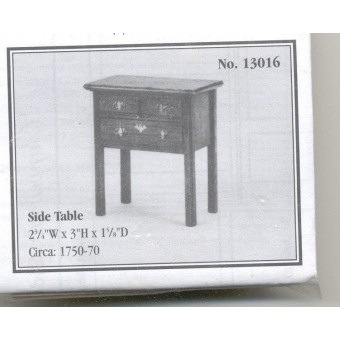 Kit - Side Table Chippendale wooden furniture  Houseworks 13016 1/12 scale
