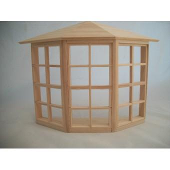 24-Light Bay Window  dollhouse miniature  #5008 1pc 1/12 scale Houseworks