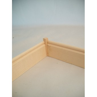 Baseboard Corner Block 15pcs basswood trim molding 1/12 scale MW12000 dollhouse
