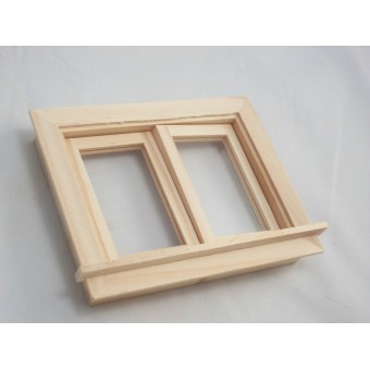 Casement Working Window dollhouse 1:12 scale #5050 1pc Houseworks wooden