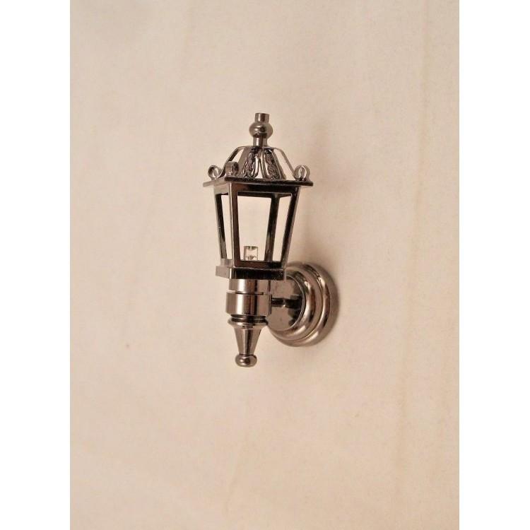 Light Led Black Coach Lamp 2324 Dollhouse 1 12 Scale