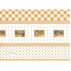 Tile Wall Sheet 34484w- dollhouse miniature 1/12 scale World & Model 1pc