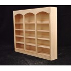 Bookcase 5011 dollhouse miniature 1/12 scale Houseworks unfinished wood