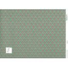 "Wallpaper   Hobarth green  168D2 dollhouse miniature 1pc 11x17""  1-12 scale"