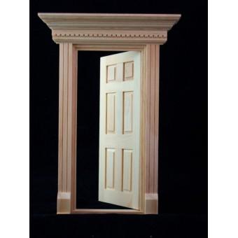 Door - Yorktown Colonial - 1/12 scale dollhouse miniature wooden 6014 Houseworks