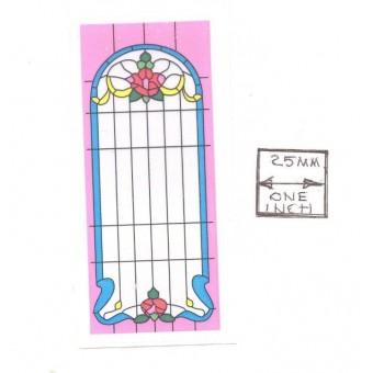 Simulated Stain Glass #SLIM03 dollhouse miniature fits window HW5042 CLA75042