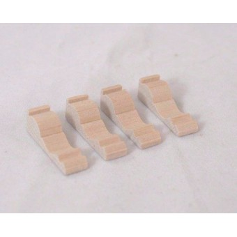 Brackets - wooden - 1/12 scale dollhouse miniature furniture CLA70261  4pack