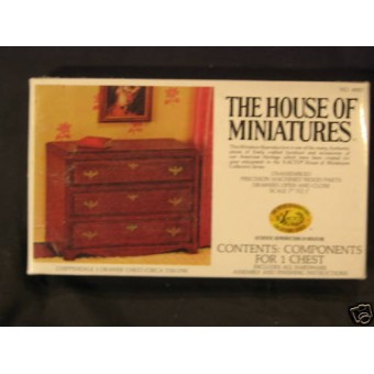 House/ Miniature 3 Drawer Chest dollhouse furniture kit
