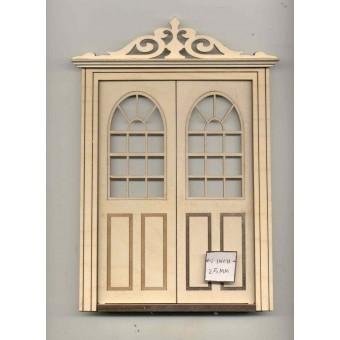 Door - DouBle Exterior LD802 dollhouse 1/12 scale miniature USA GA  wood