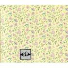 "Brodnax Prints ""Papillon - Raspberry"" 1FR111 Floral wallpaper dollhouse 1"" scale"