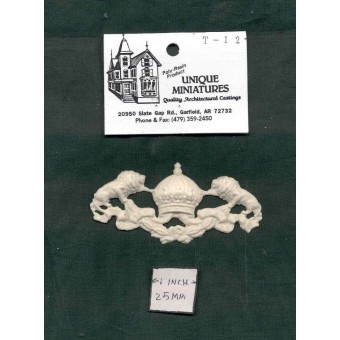 Door Pediment / Trim / Header UMT12 - dollhouse miniatures 1/12 scale polyresin